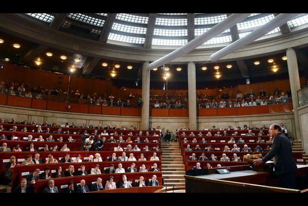 François Hollande lors du discours d'ouverture de la Conférence sciale.