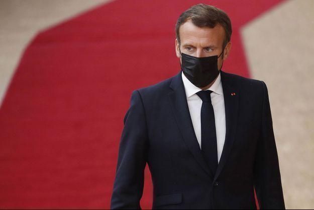 Emmanuel Macron, à Bruxelles le 1er octobre.