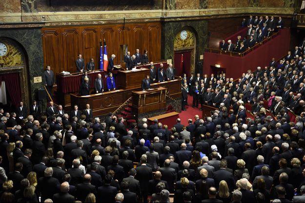 François Hollande devant le Congrès à Versailles, en novembre 2015.