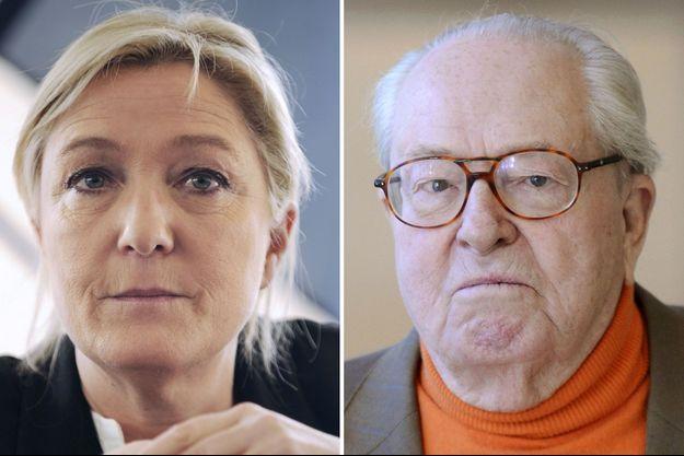 Marine et Jean-Marie Le Pen en 2014