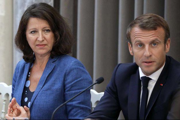 Agnès Buzyn et Emmanuel Macron, au palais de l'Elysée, en septembre 2019.