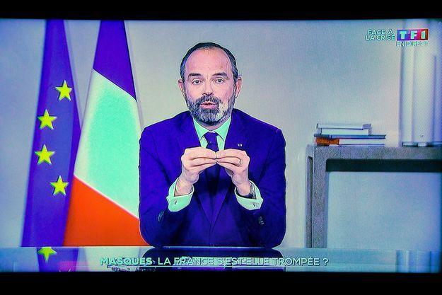 Edouard Philippe lors de son intervention sur TF1, jeudi soir.