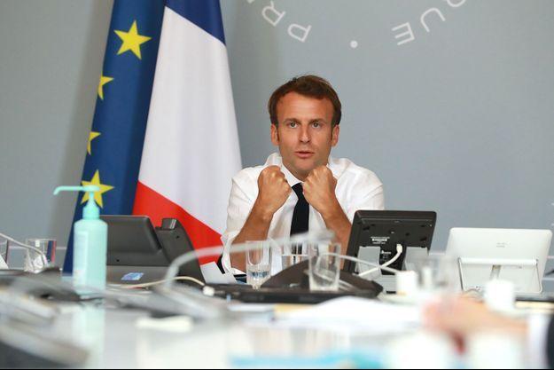 Emmanuel Macron le 6 mai 2020.