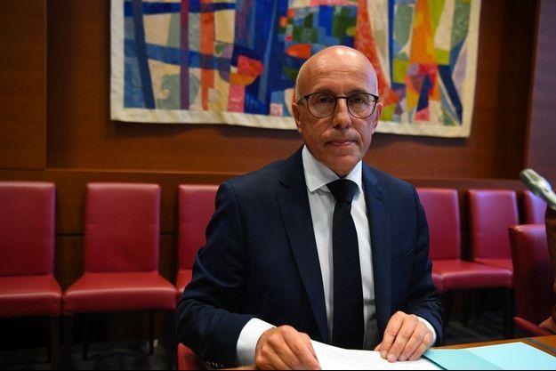 Eric Ciotti avant une audition à l'Assemblée nationale, le 6 juillet.