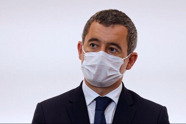Gérald Darmanin, lors de la conférence de presse autour du couvre-feu, le 15 octobre.