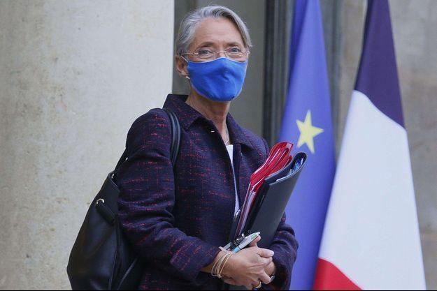 Élisabeth Borne, la semaine dernière à l'Elysée.