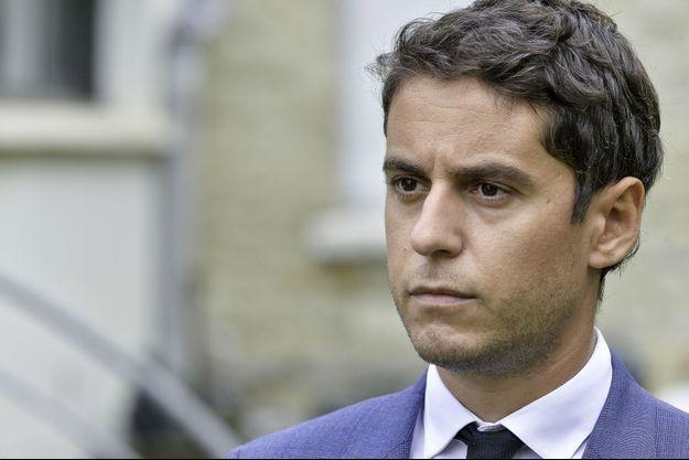 Le porte-parole du gouvernement Gabriel Attal, ici début octobre à Rennes.