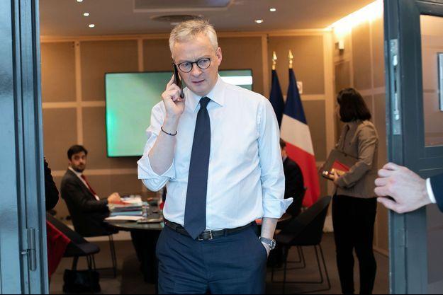 Bruno Le Maire, ici le 16 mars à Bercy en vidéo conférence avec ses homologues européens.
