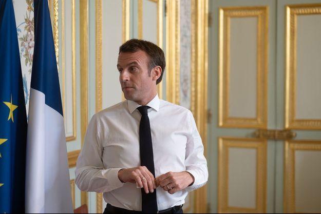 Emmanuel Macron le 20 mars à l'Elysée.