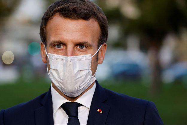 Emmanuel Macron dans le Val d'Oise vendredi dernier.