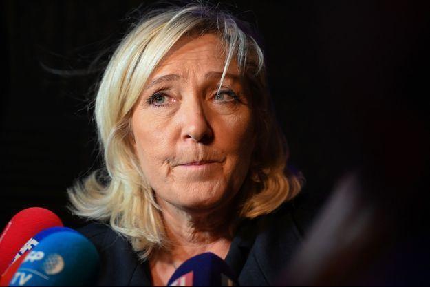 Marine Le Pen à Henin-Beaumont en décembre.