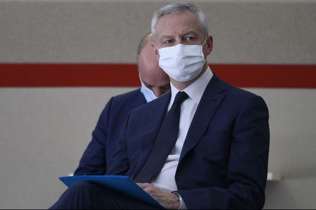 Bruno Le Maire ici le 29 ocotbre à Matignon lors de la conférence de presse du Premier ministre détaillant les modalités du confinement.