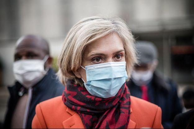 Valérie Pécresse lors d'un déplacement autour des tests antigéniques, fin novembre.