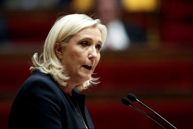 Marine Le Pen ici en octobre 2019 à l'Assemblée nationale.