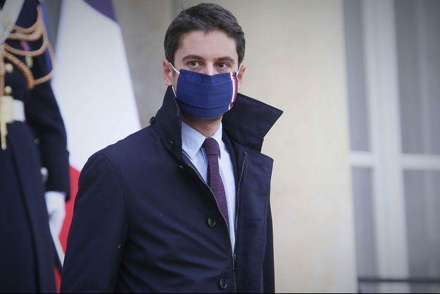 Gabriel Attal, le 20 janvier à l'Elsyée.