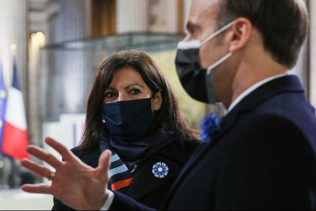 Anne Hidalgo et Emmanuel Macron en novembre 2020