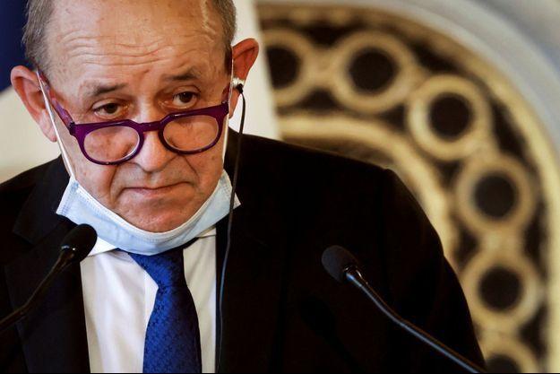 Le ministre des Affaires étrangères Jean-Yves Le Drian à Paris, le 11 mars 2021.