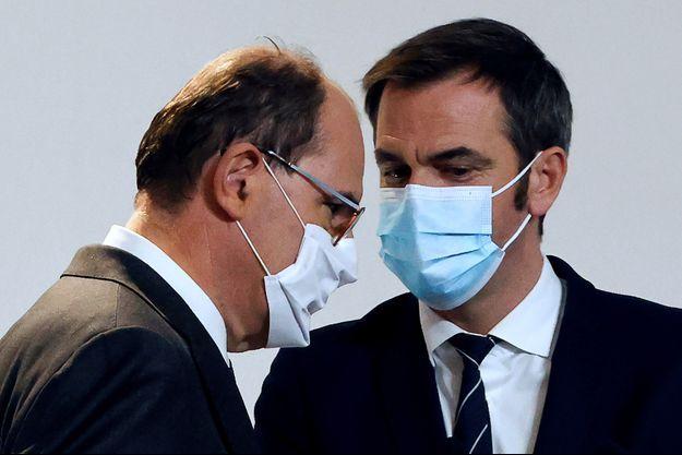 Jean Castex et Olivier Véran ici lors d'une conférence de presse mi novembre.