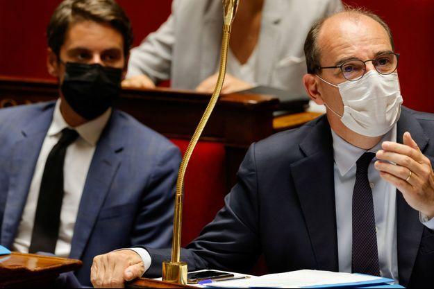 Jean Castex et Gabriel Attal mardi à l'Assemblée nationale, le 20 juillet.