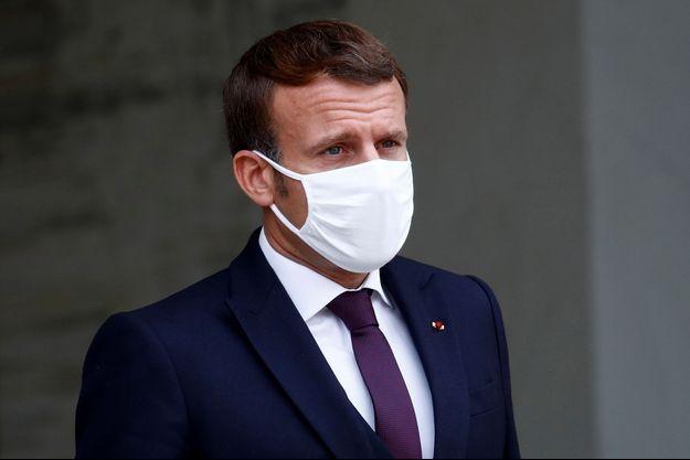 Emmanuel Macron à l'Elysée, le lundi 19 octobre 2020.