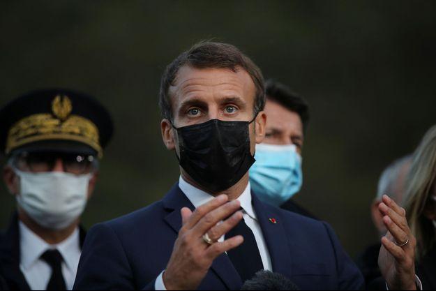Emmanuel Macron à Breil-sur-Roya (Alpes-Maritimes).