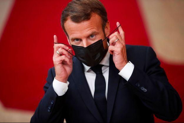 Emmanuel Macron à Bruxelles, le 1er octobre.