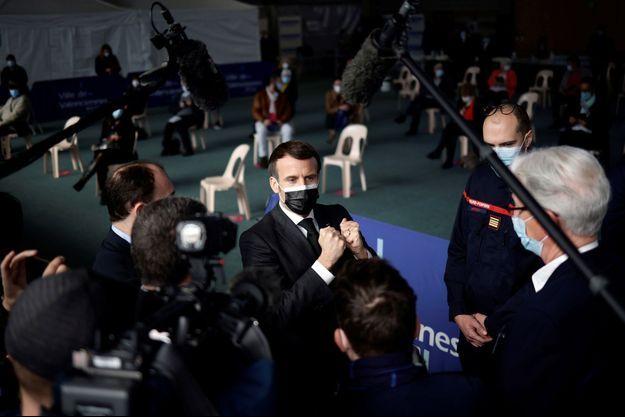 Emmanuel Macron à Valenciennes mardi.