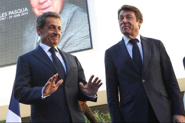 Nicolas Sarkozy et Christian Estrosi ici à Nice en novembre 2018.