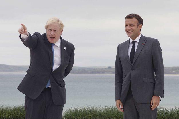 Boris Johnson et Emmanuel Macron.