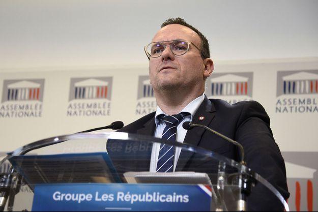 Le président du groupe Les Républicains à l'Assemblée nationale, Damien Abad, le 12 novembre.