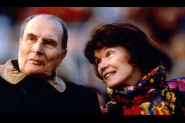 François et Danielle Mitterrand, en 1992.