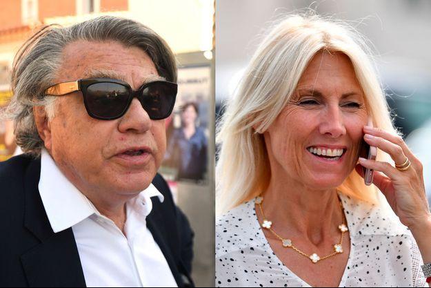 Marie Sara et Gilbert Collard, en campagne dans le Gard pour les législatives, juin 2017.