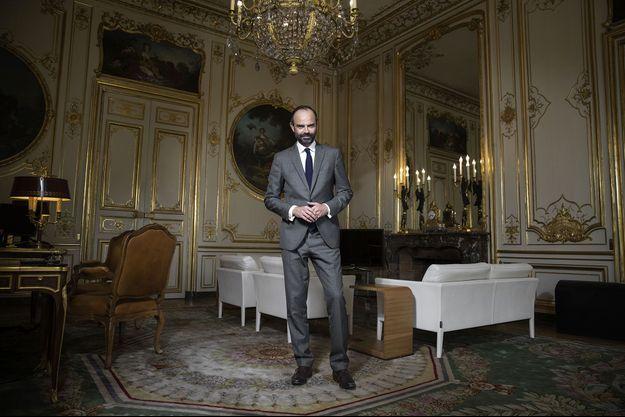 Edouard Philippe, le Premier ministre, dans son bureau à Matignon.