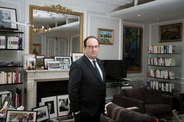 François Hollande, dans son bureau parisien le 6 février.