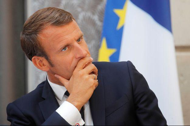Emmanuel Macron à l'Elysée jeudi.