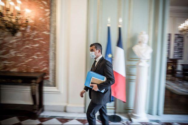 Gérald Darmanin, ici lundi au ministère de l'Intérieur.