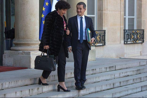 Gérald Darmanin et Frédérique Vidal en 2019.