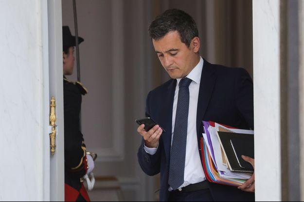 Le ministre des Comptes publics Gérald Darmanin mi-juin à l'Elysée.