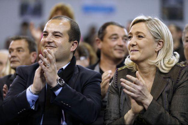 David Rachline et Marine Le Pen, en mars 2014.