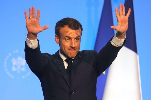 Emmanuel Macron lors de son discours devant la communauté française de Buenos Aires, jeudi.