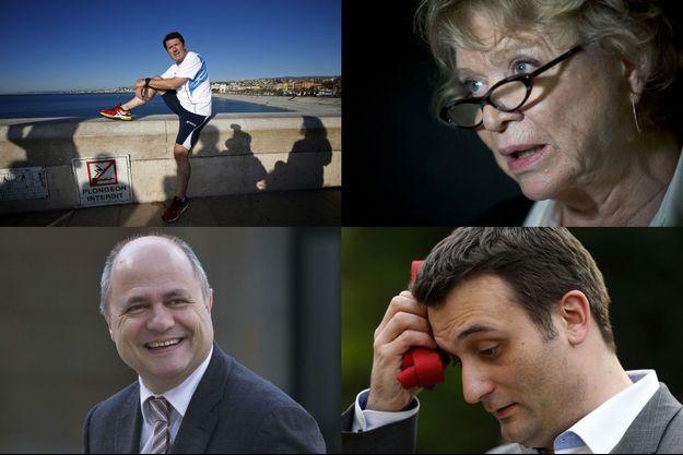Christian Estrosi, Eva Joly, Bruno Le Roux et Florian Philippot.