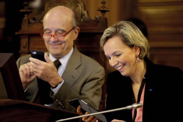 Alain Juppé et Virginie Calmels, le 30 mars à l'hôtel de ville de Bordeaux.
