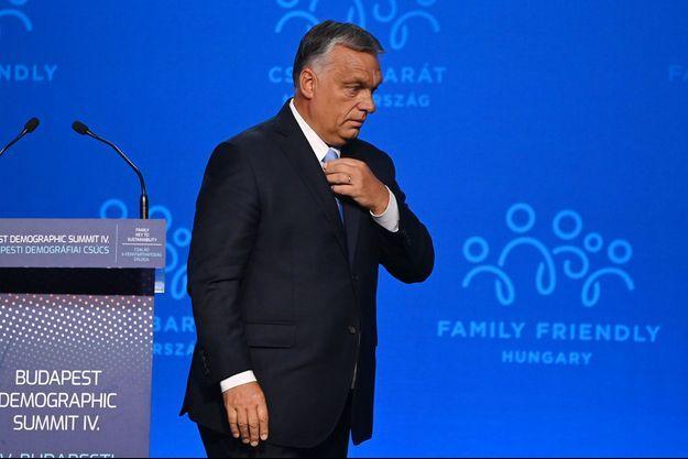 Victor Orban à Budapest, jeudi.