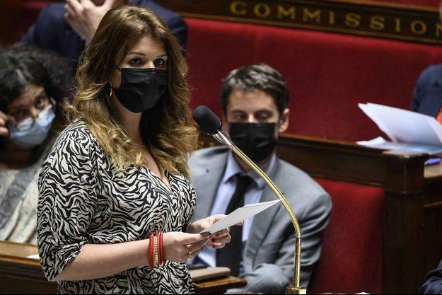 Marlène Schiappa ici début juin à l'Assemblée nationale.