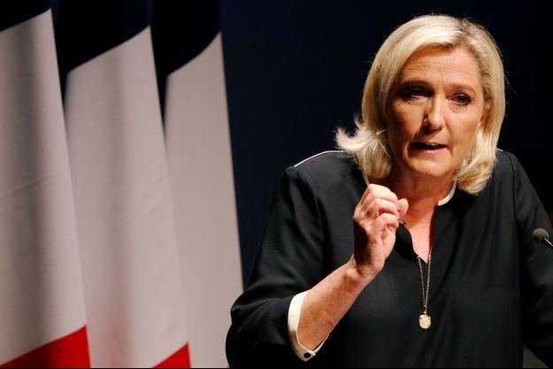 Marine Le Pen le 15 septembre en meeting à Fréjus.
