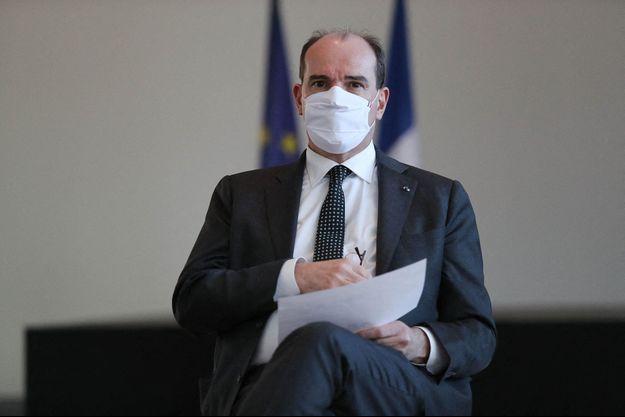 Jean Castex à la mairie de Valenciennes pour un échange avec les élus locaux le 12 février 2021