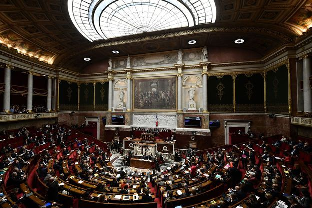 L'hémicycle du Palais Bourbon, le 19 décembre.