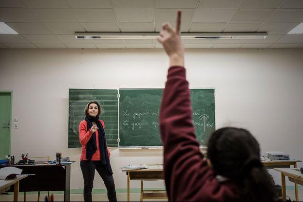 Dans une école d'Asnières-sur-Seine, en janvier 2017 (photo d'illustration).