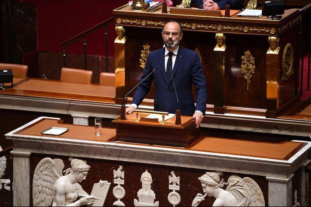 Edouard Philippe à l'Assemblée nationale, mardi après-midi.