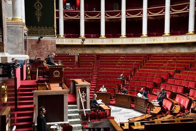 L'Assemblée nationale le 7 avril, lors des questions au gouvernement.